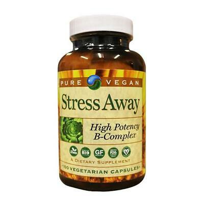 Pure Vegan Stress Away High Potencey B-Complex, 100 Count Best By 02/2019