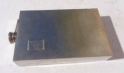 """Flask Germany Very Large Rectangular 9 by 5 ½ by 1 ½"""" Silverplate"""