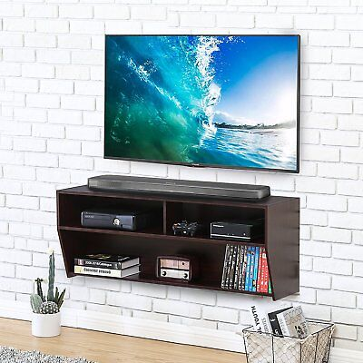 Floating Tv Stand Wall Mounted Media Console Storage Shelf For Av Xbox One Dvd