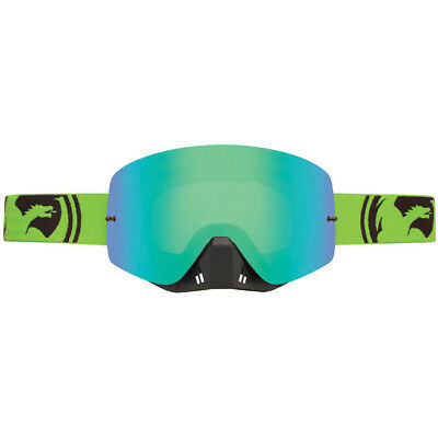 Dragon Mx Goggles Nfxs Green Black Split - Green Ion + Clear Lens