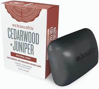 Natural Bar Soap, Schmidts Naturals, 5 oz Cedarwood & Juniper