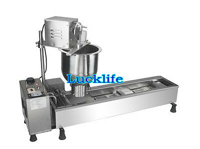 New Automatic Stainless Steel Mini Donut Maker Donut Making Machine 220V H