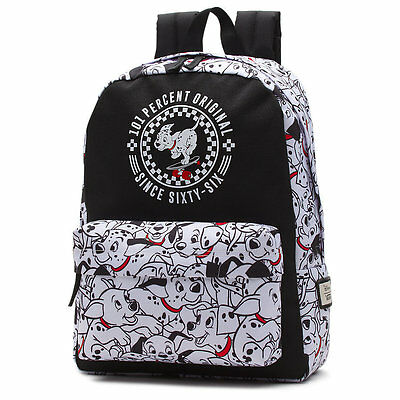 VANS x DISNEY DALMATIANS BLACK/WHITE BACKPACK 100% AUTHETIC BRAND NEW w/TAG!!