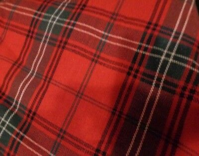 Williams Sonoma Tartan Plaid tree skirt red Christmas New without tag