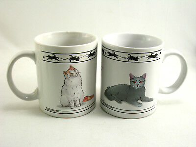 CAT LOVERS LIMITED COLLECTIBLE MUGS SET 2 TURKISH VAN and CHARTREUX Cats