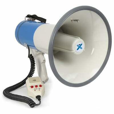MEGAPHONE Bull Horn 60Watts Siren with MP3 Player Handheld PA Loudspeaker for...