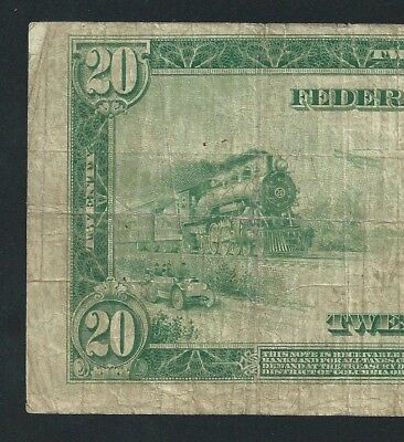 1914 $20 FEDERAL RESERVE NOTE  <<< Fr.991b >>> KEY NOTE == CHICAGO ==