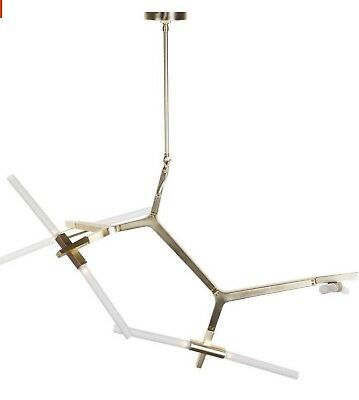 Contemporary Mid Century Favreby 8-Light Sputnik Chandelier Lamp in Bronze