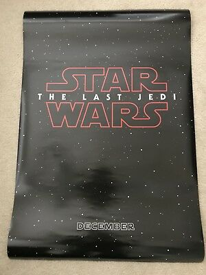 "STAR WARS THE LAST JEDI 2017 Advance Teaser DS 27x40"" Movie Poster Disney DMR"