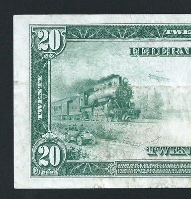 1914 $20 Federal Reserve Note  <<< Kansas City >>> Low 7-Digit