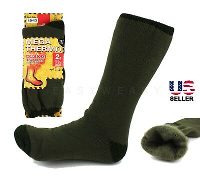 Mens Winter Thermal Extra Warm Soft Brush Lined Insulated Snow Ski Socks 10-13