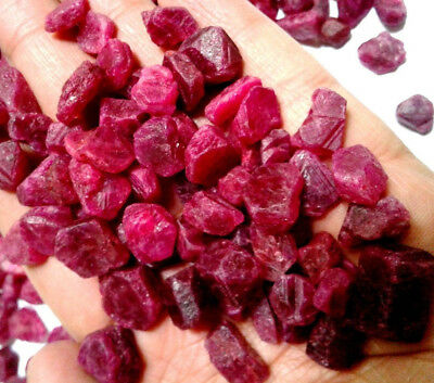 Earth Mined Beautiful Natural Red Ruby Burma Rough Gemstone Lot B11