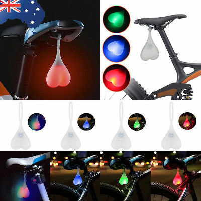 Silicone Bike Ball LED Lights Bicycle Back Rear Taillight Cycling Heart Egg Lamp