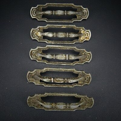 5 Vintage Antique Cast Metal Handle Pull Dresser Drawer Cabinet Pulls (Lot 39)