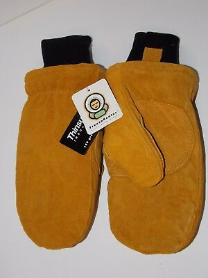 MEN'S SIZE XLARGE FREEZER BEATER 150gms THINSULATE LINED LEATHER MITTENS - XL
