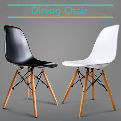 Tough Mid Century Dining Chair Cafe Eames Eiffel DSW Kitchen Beech 2/4pcs Chair