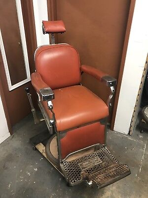 Antique Theo A. Koch Barber Chair 1950's