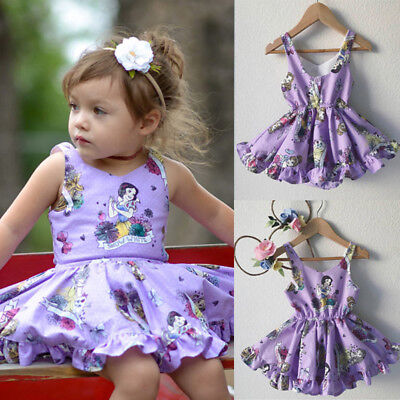 AU Toddler Kids Baby Girl Birthday Wedding Pageant Party Princess Tutu Dresses