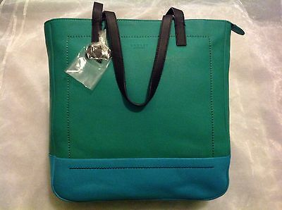 BEAUTIFUL RADLEY Finsbury Park Leather SHOULDER Bag BNWT Turquoise Navy GREEN
