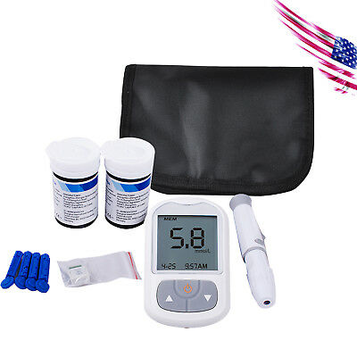 Blood Glucose Meter Tests Sugar Monitor Diabetic 50 Strips 50 twist lancets US