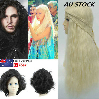 Game Of Thrones Cosplay Jon Snow Daenerys Targaryen Curly Wig Synthetic Anime