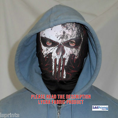 Gamers Skull Face Fun Horror 3D Fabric Face Mask Stag Night Fancy Dress