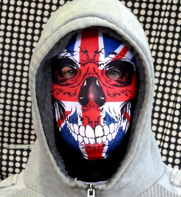 Union Jack Skull Full Face Mask Fun Horror Fabric Stag Night Halloween