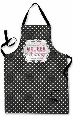 Splashproof Novelty Apron Spotty Mother Nanny Cooking Painting Art Kitchen BBQ