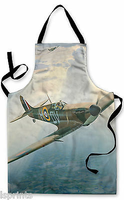 Splashproof Novelty Apron Spitfire Design Cooking Painting Art Kitchen BBQ Gift