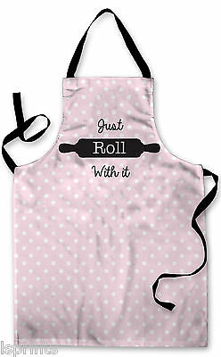 Splashproof Novelty Apron Just Roll With It Cooking Painting Kitchen BBQ Gift