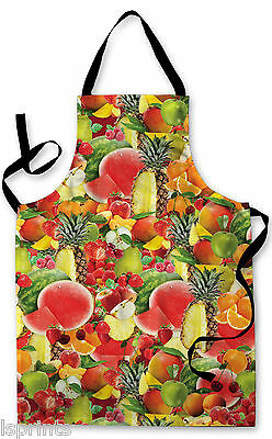 Splashproof Novelty Apron Fruits All Over Cooking Painting Art Kitchen BBQ Gift