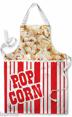 Splashproof Novelty Apron Pop Corn Box Cooking Painting Art Kitchen BBQ Gift