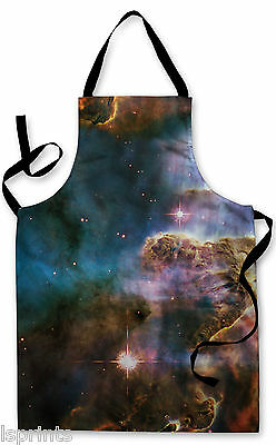 Splashproof Novelty Apron Galaxy 3 Cooking Painting Art Kitchen BBQ Gift