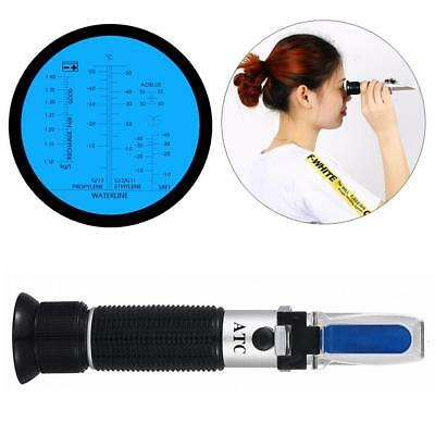 4 In 1 Glycol Refractometer Auto Car Antifreeze Battery / Cleaning Fluids Tester