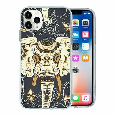 Silicone Phone Case Back Cover Elephant Animal Pattern - S5253