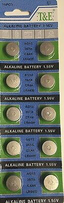 Ag13 X Lr44 Sr44 L1154 357 A76 Alkaline Button / Coin Cells Batteries X 10