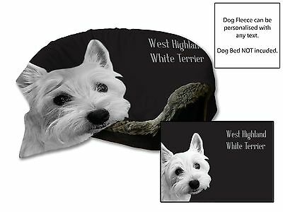 """45""""x31"""" West Highland White Terrier Dog Bed Car Blanket Soft Fleece Throw Cover"""