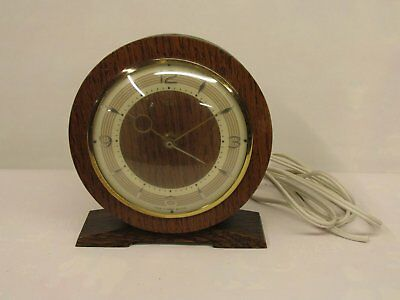 Old vintage Smiths electric mantle clock wooden case Untested Spares or Repair