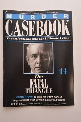 Murder Casebook Cavendish Magazine Issue 44 The Fatal Triangle Harry Thaw Wife