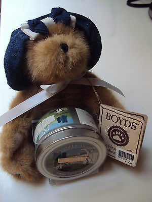 "Boyds Bears Plush 2005  7"" BEARY PRECIOUS w/ Yankee Candle THINK'N OF YA SERIES"