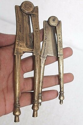 Lot of Two Antique handcrafted Brass Betel Nut (Supari) Cutter / SAROTA