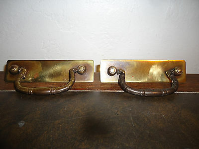 2 Vintage Keeler Brass Co Drawer Pulls N13856 Bronze Geometric