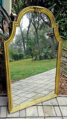 Vintage gold mirror Hollywood Regency neo-classical French Mid-Century 34 x 28