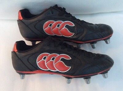 Canterbury 8 Stud Rugby Boots UK Size 7.5 VGC