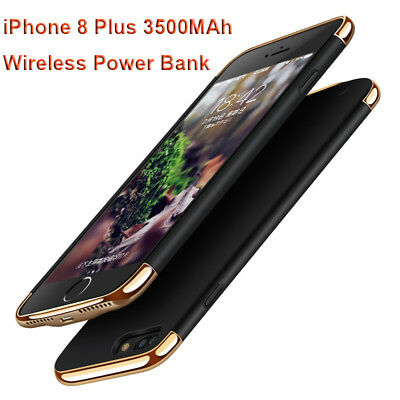 For Apple iPhone 8 7 6s 6 Plus Case Cover Power Bank Battery Charger Wireless