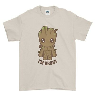 Baby Groot Cute Comic Movie Guardians of the Galaxy Boys Men T Shirt Top Tee