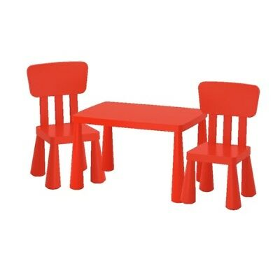 mammut ikea kinder tisch stuhl set rot drinnen drau en. Black Bedroom Furniture Sets. Home Design Ideas