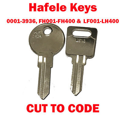 2 x Replacement Hafele Keys Cut to Code - Lockers, Filing Cabinets & Desks