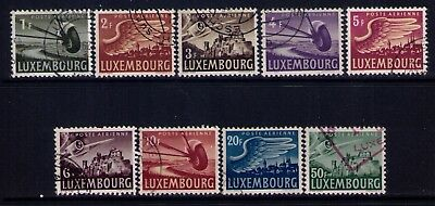 Luxembourg:1946 Airmail stamps Sc# C7-15 Cpl.Used set