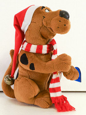 Applause SCOOBY DOO Christmas Plush Toy Santa Hat with bell & Scarf w tag 2000